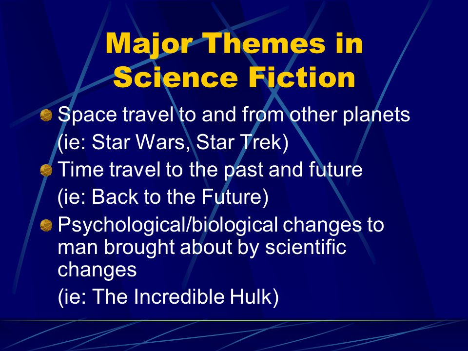 It is a common science fiction convention that authors should not contradict known scientific fact (e.g., humans flying without on their own without the use of devices), but may do what they wish with commonly- accepted scientific theory (e.g., humans flying to distant planets in a space shuttle).