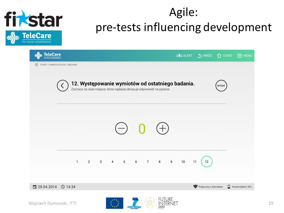 Agile: pre-tests influencing development Wojciech Dymowski, ITTI19