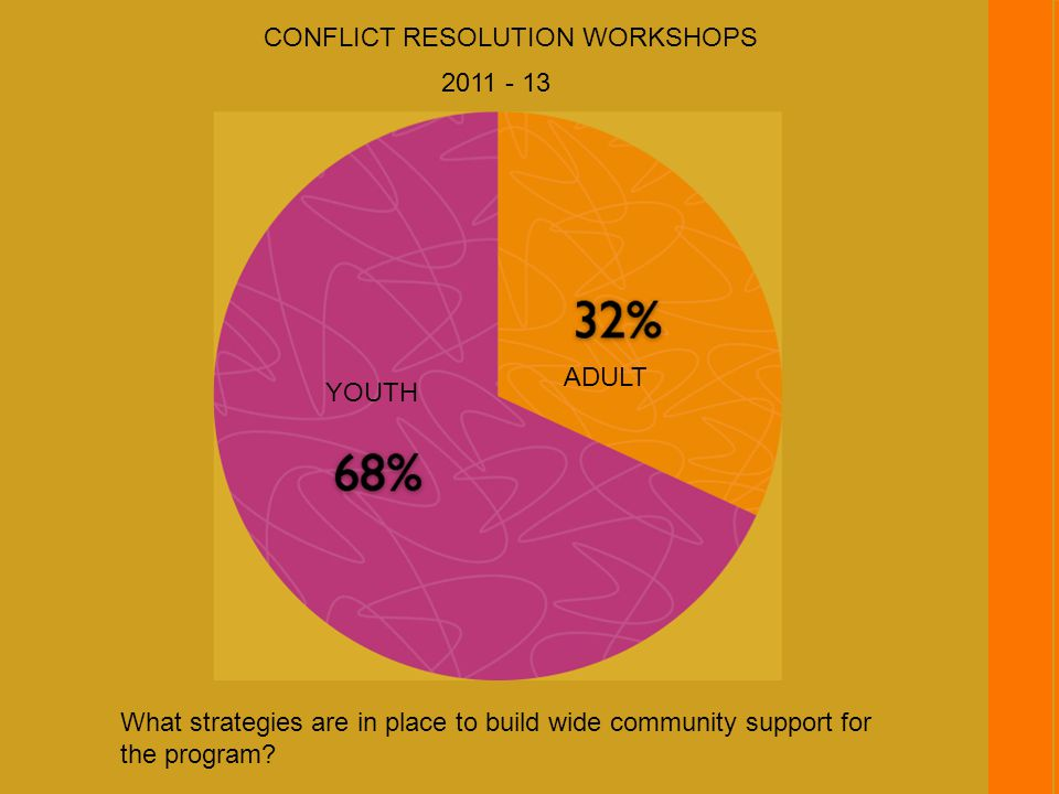 What strategies are in place to build wide community support for the program.