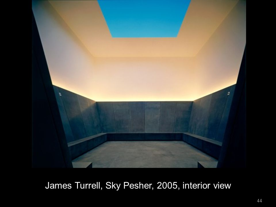 James Turrell, Sky Pesher, 2005, interior view 44
