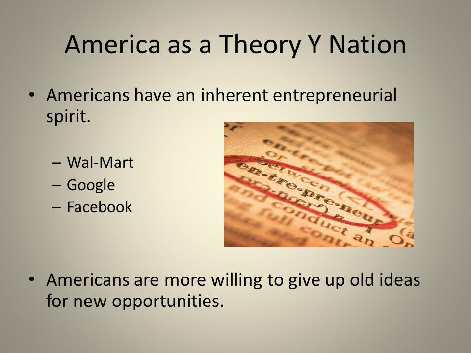 Americans have an inherent entrepreneurial spirit.