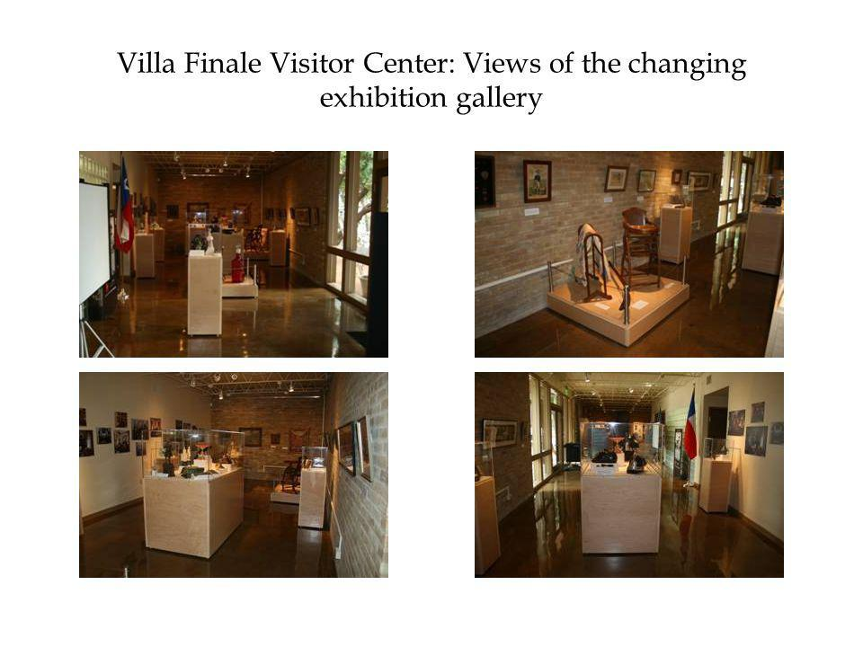 Villa Finale Visitor Center: Views of the changing exhibition gallery