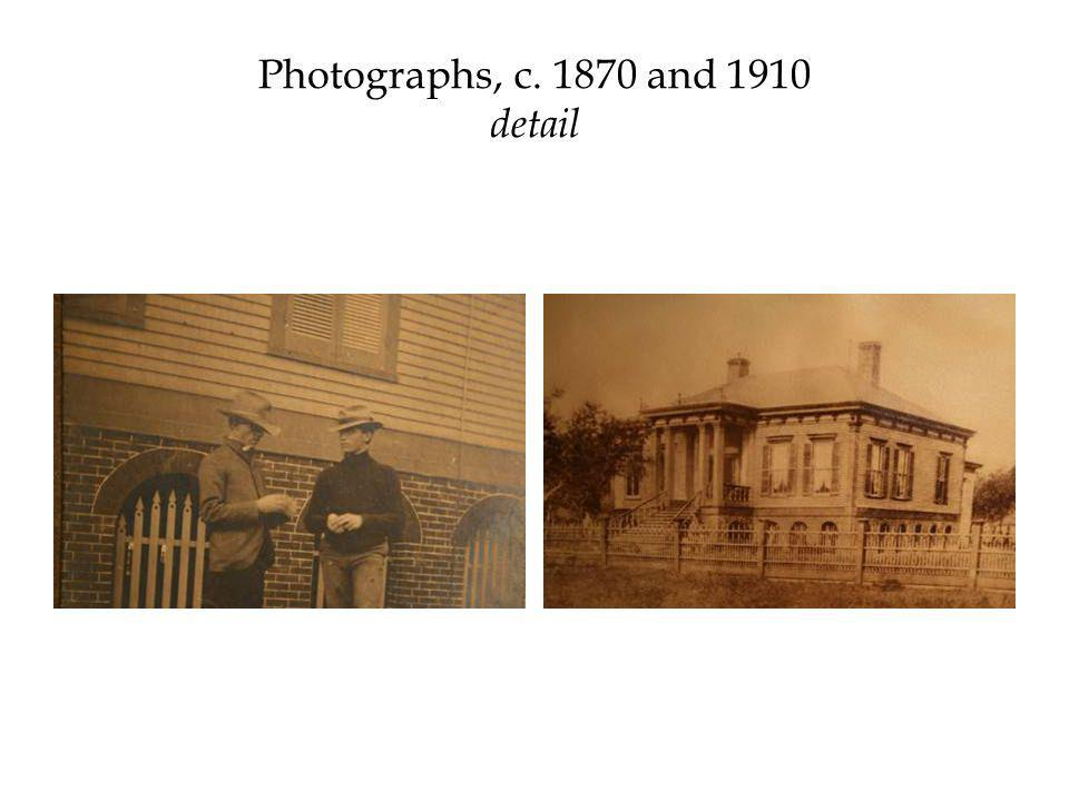 Photographs, c. 1870 and 1910 detail