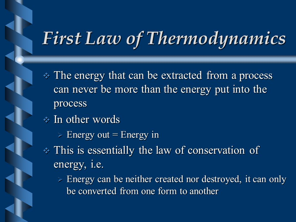 Thermodynamics  The science of thermodynamics deals with the relationship between heat and work.