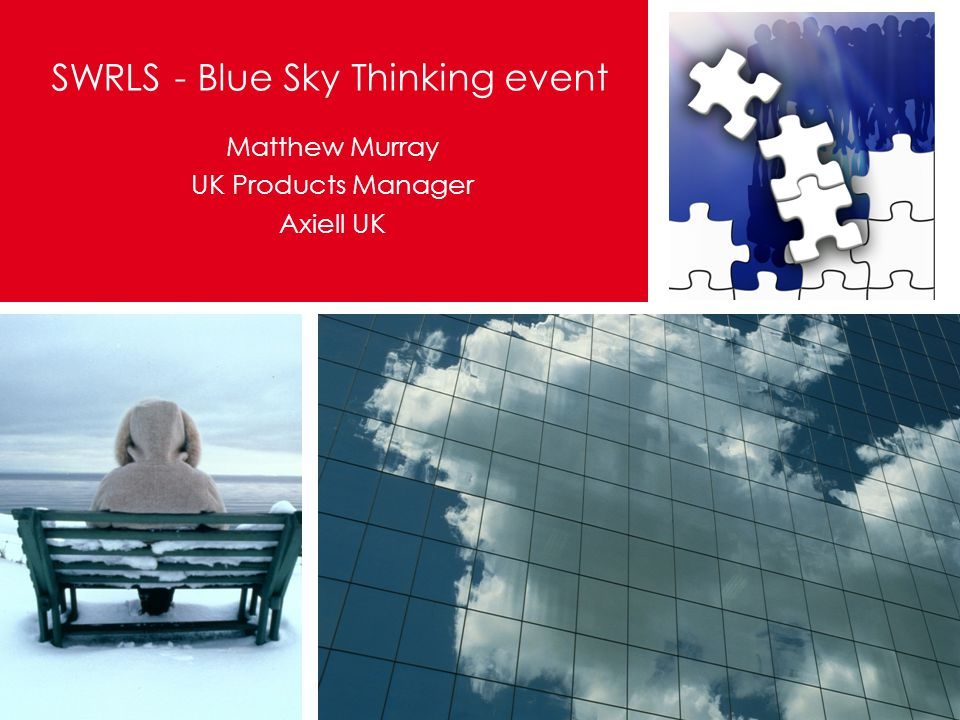 Matthew Murray UK Products Manager Axiell UK SWRLS - Blue Sky Thinking event