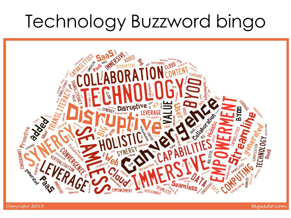 Technology Buzzword bingo