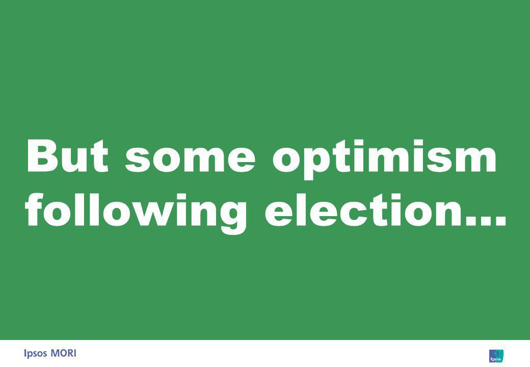 But some optimism following election…