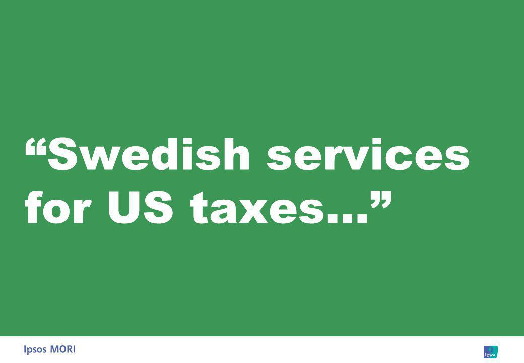 Swedish services for US taxes…
