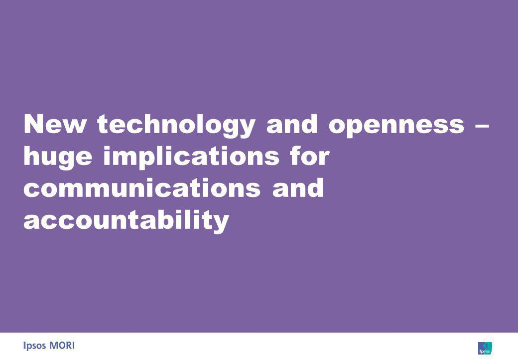 New technology and openness – huge implications for communications and accountability
