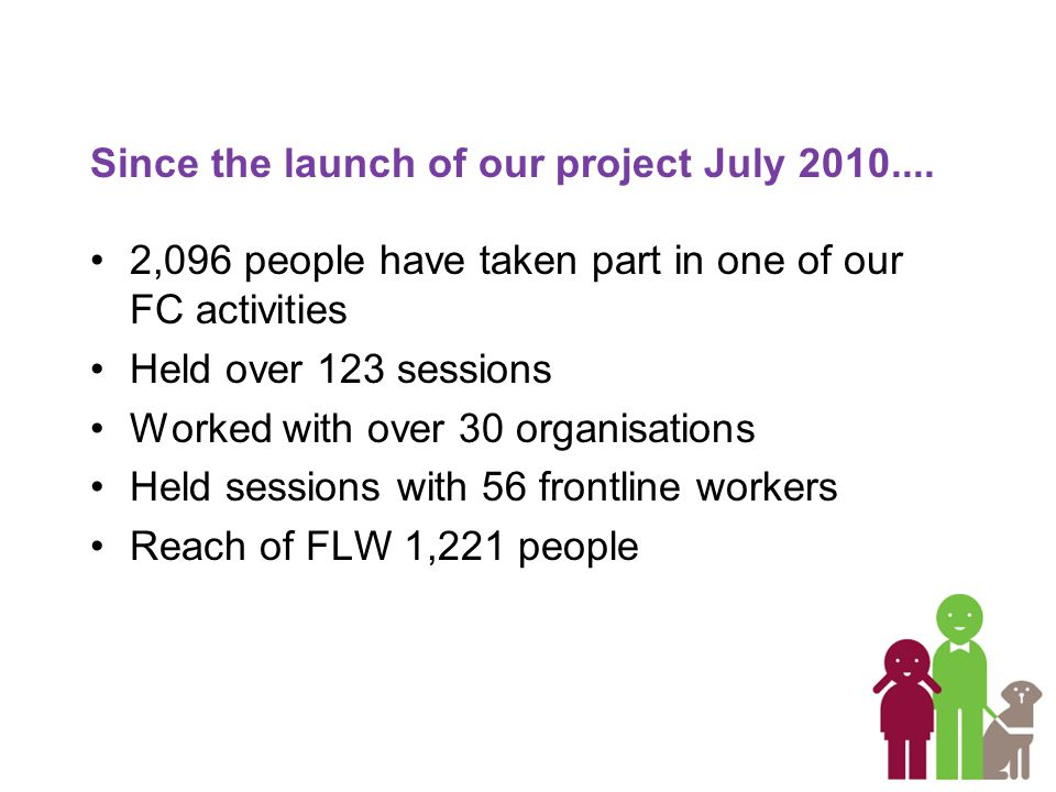 Since the launch of our project July 2010....