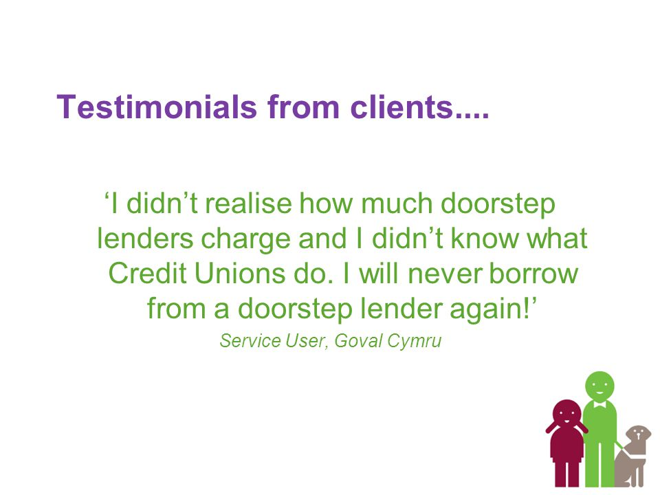 Testimonials from clients....