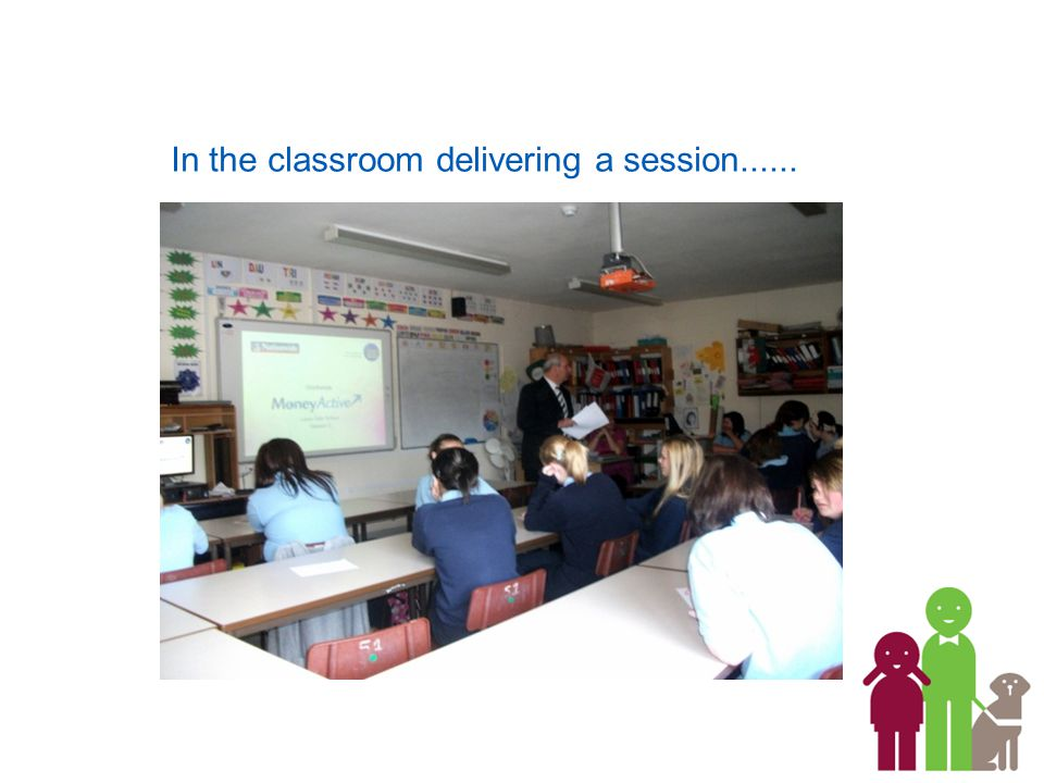 In the classroom delivering a session......