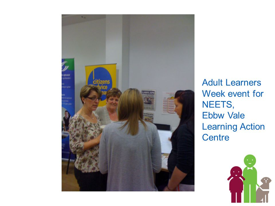 Adult Learners Week event for NEETS, Ebbw Vale Learning Action Centre