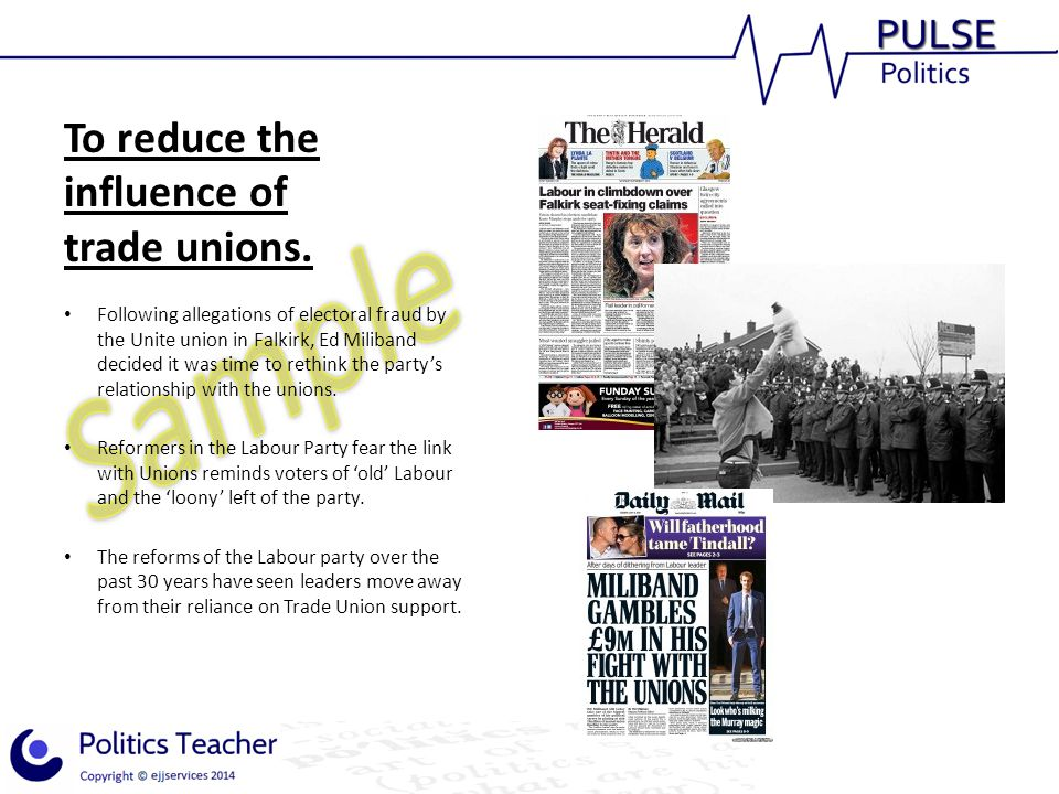 To reduce the influence of trade unions.