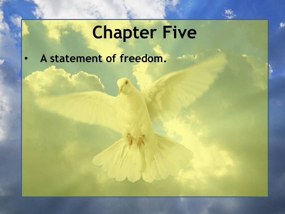 Chapter Five A statement of freedom.