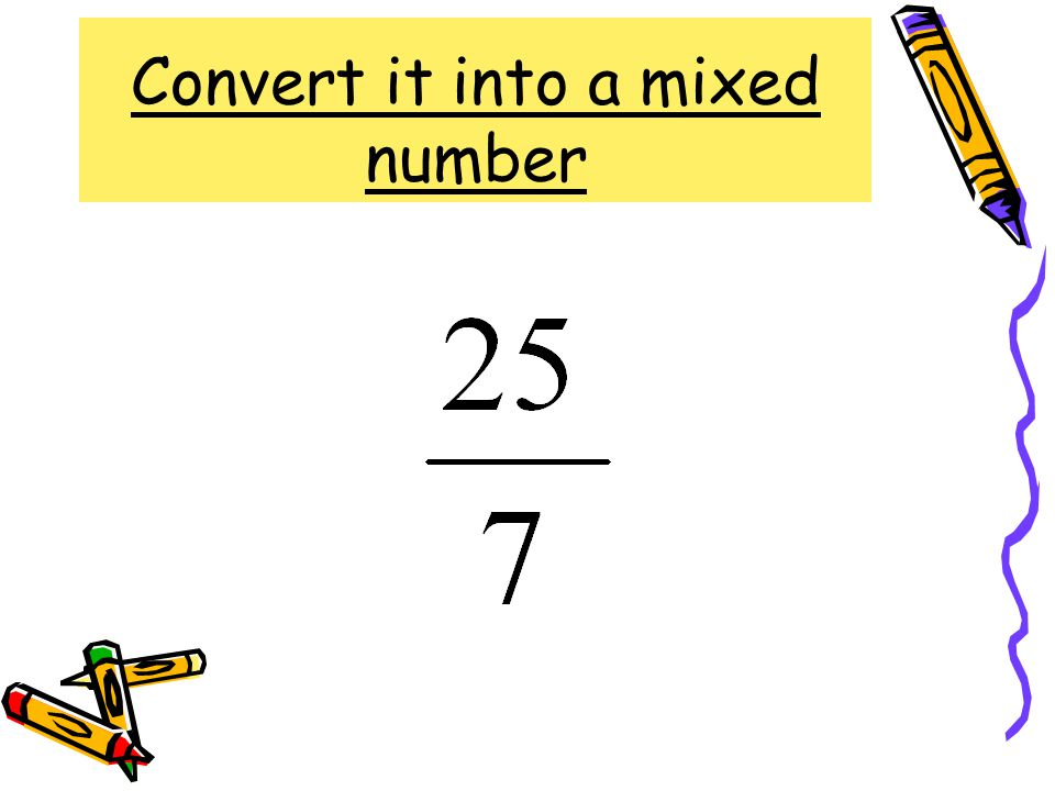 Convert it into a mixed number
