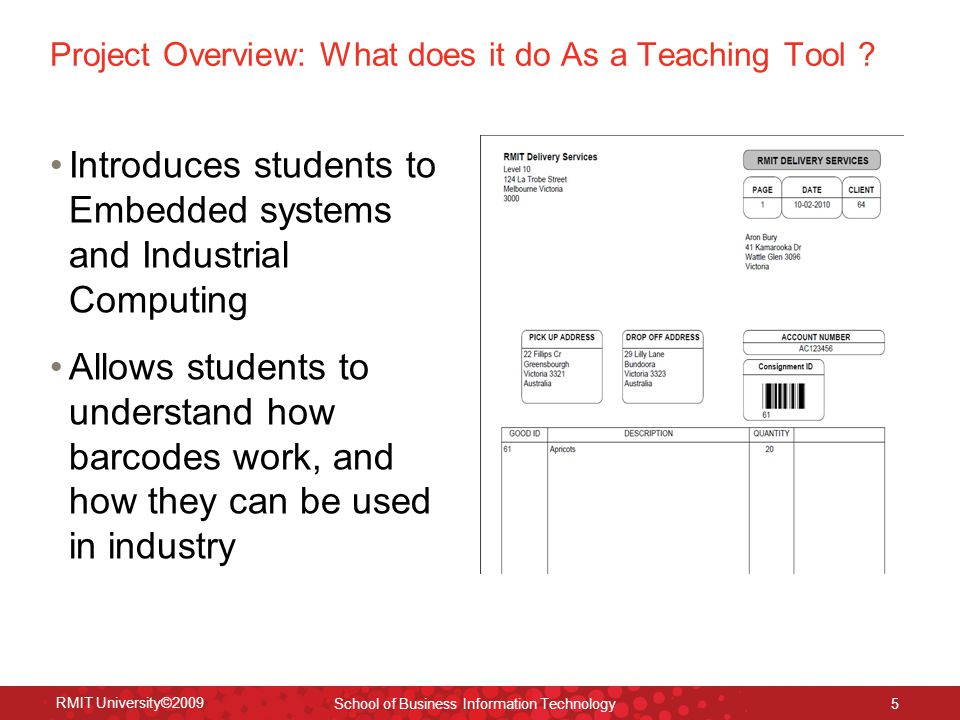 Project Overview: What does it do As a Teaching Tool .