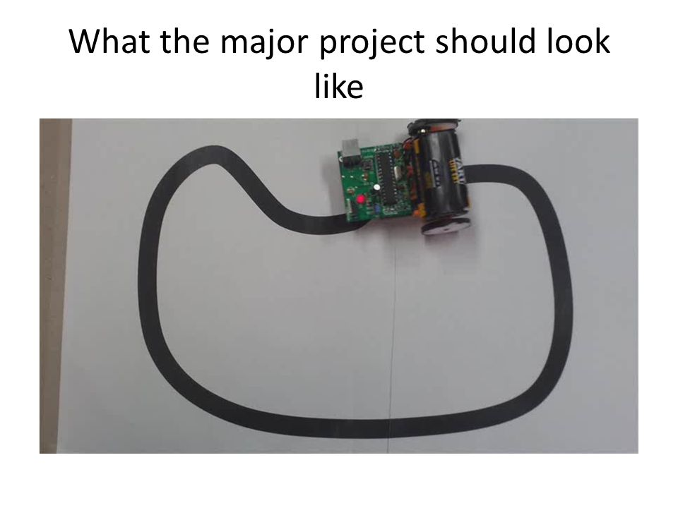 What the major project should look like