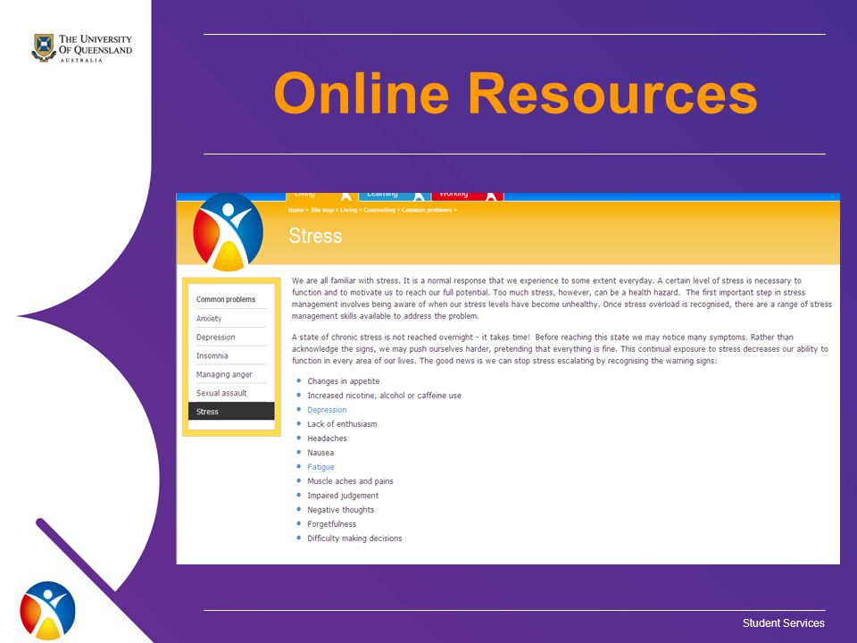 Student Services Online Resources