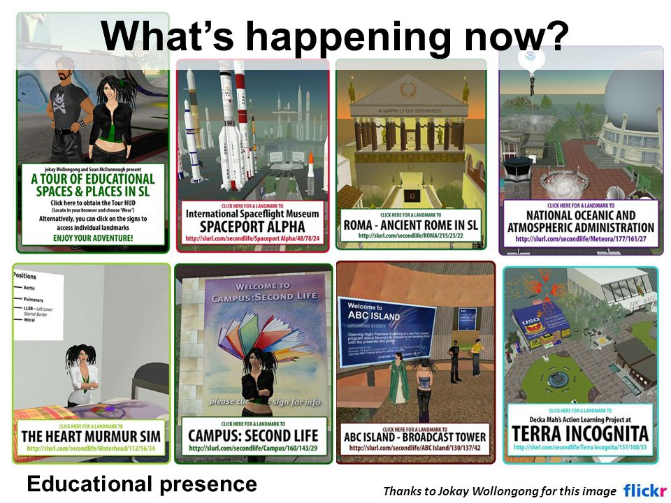 Educational presence What's happening now Thanks to Jokay Wollongong for this image