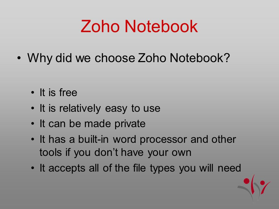 Zoho Notebook Why did we choose Zoho Notebook.