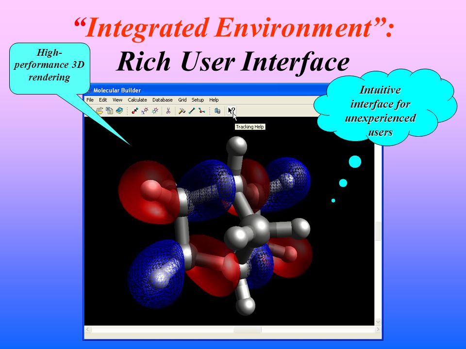 Integrated Environment : Rich User Interface High- performance 3D rendering Intuitive interface for unexperienced users
