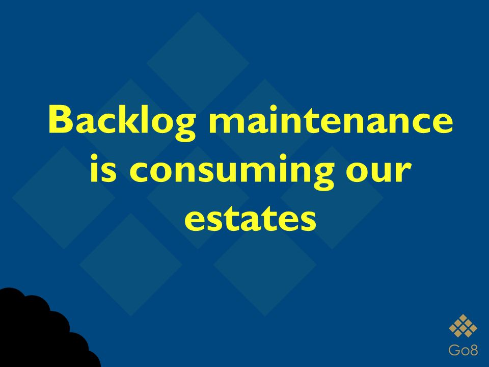 Backlog maintenance is consuming our estates