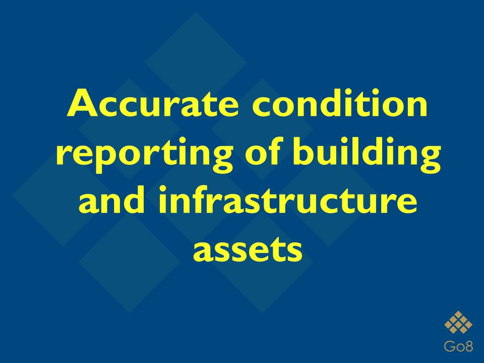 Accurate condition reporting of building and infrastructure assets