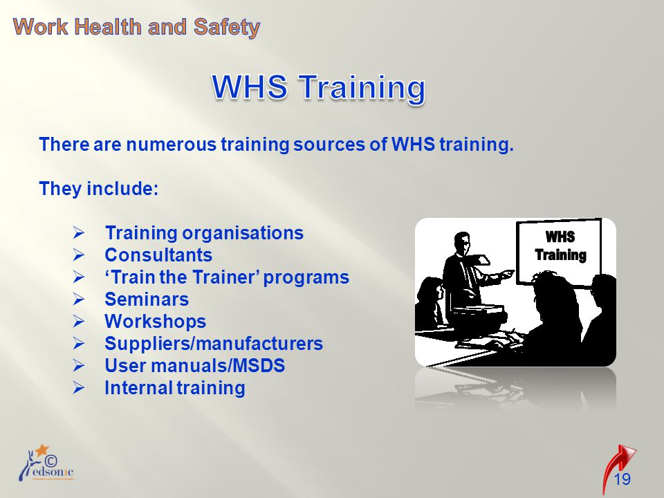There are numerous training sources of WHS training.