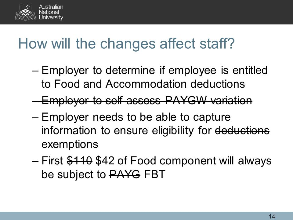 How will the changes affect staff.