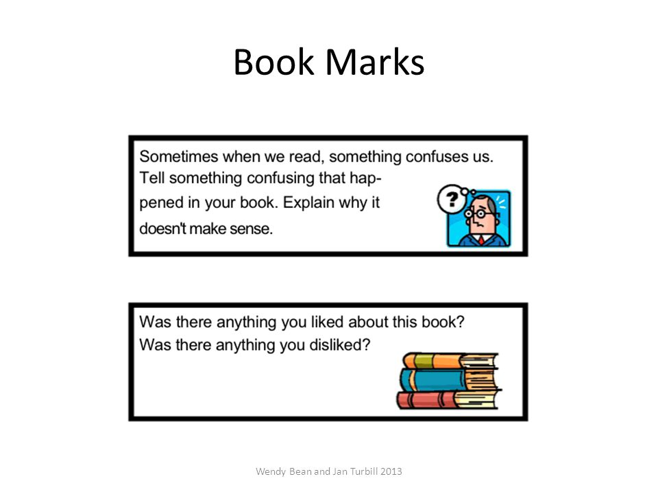 Book Marks Wendy Bean and Jan Turbill 2013