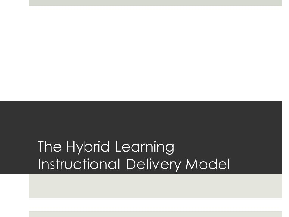 The Hybrid Learning Instructional Delivery Model