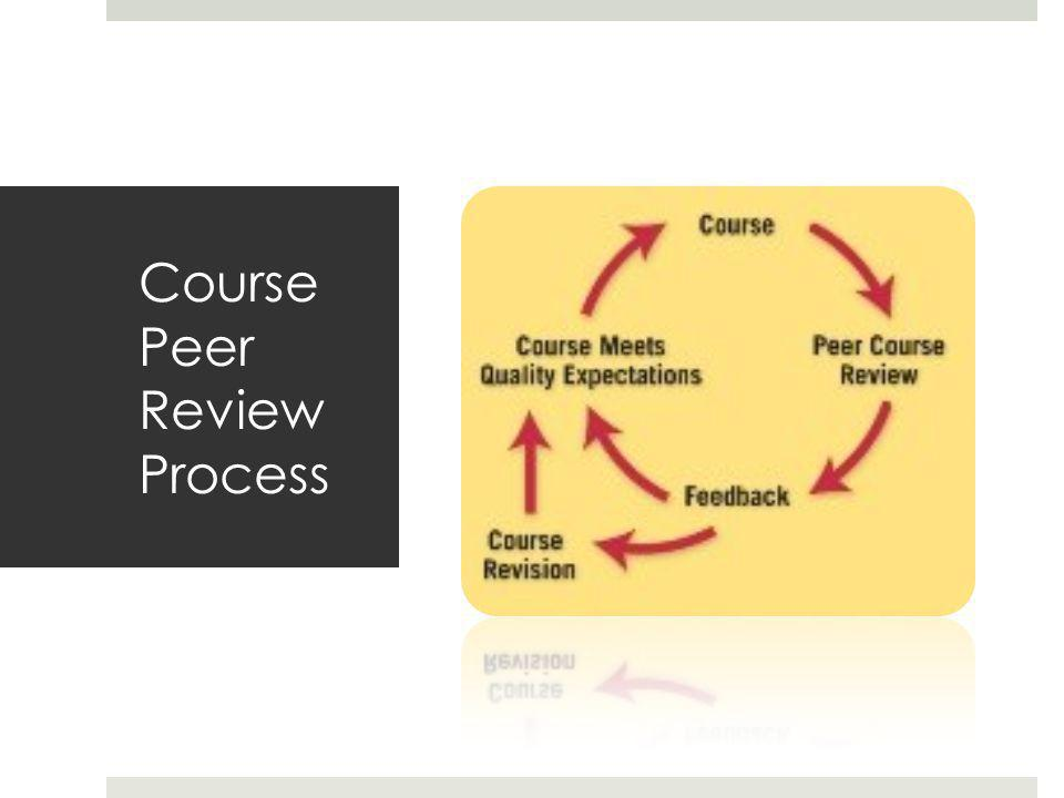 Course Peer Review Process