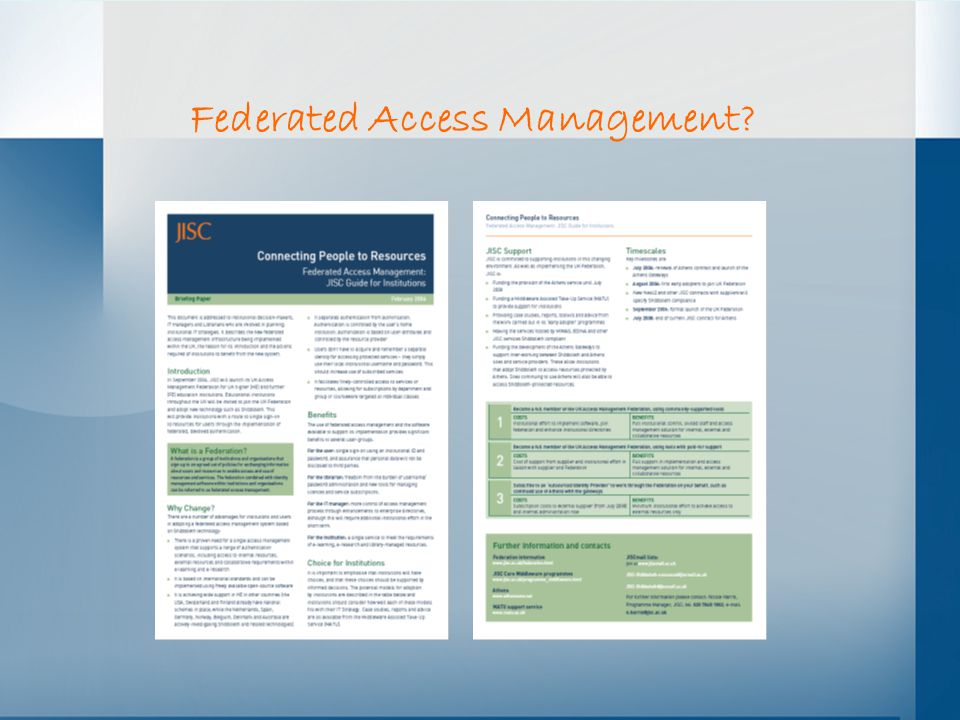 Federated Access Management
