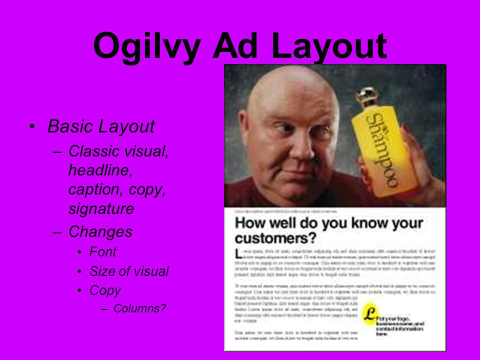 ad layout definition