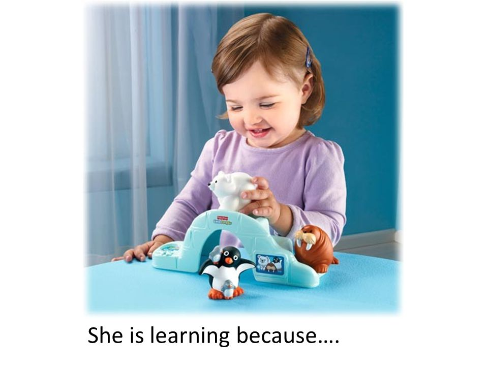 She is learning because….