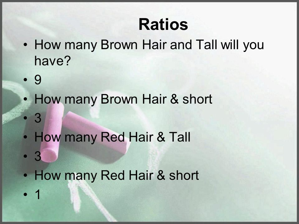 Ratios How many Brown Hair and Tall will you have.