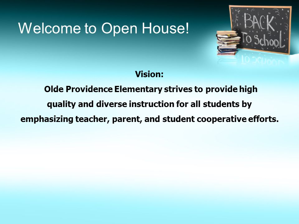 Welcome to Open House!