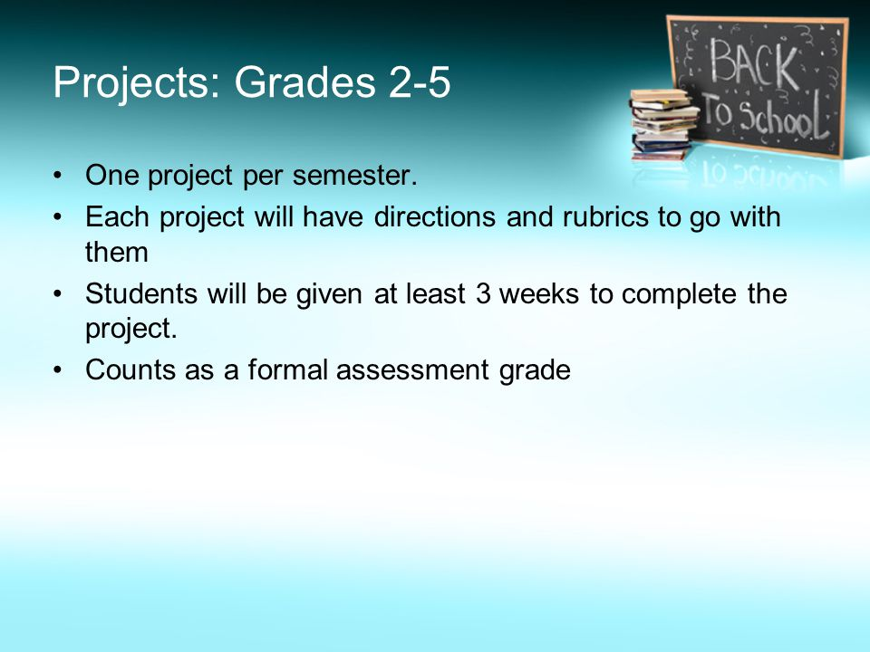 One project per semester.