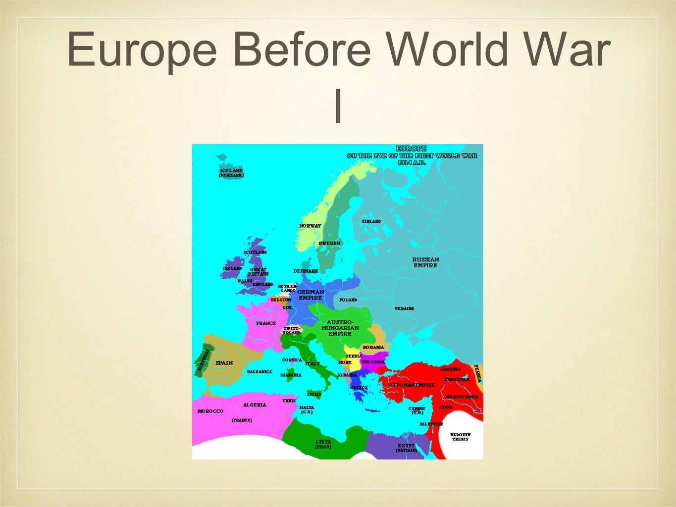 Europe Before World War I