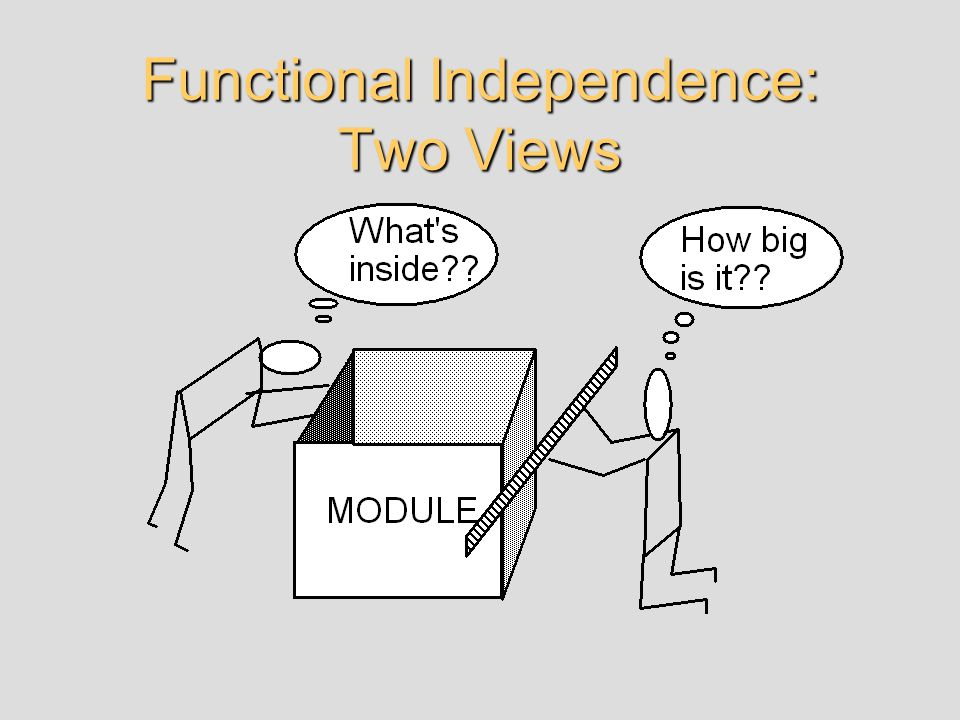 Functional Independence: Two Views