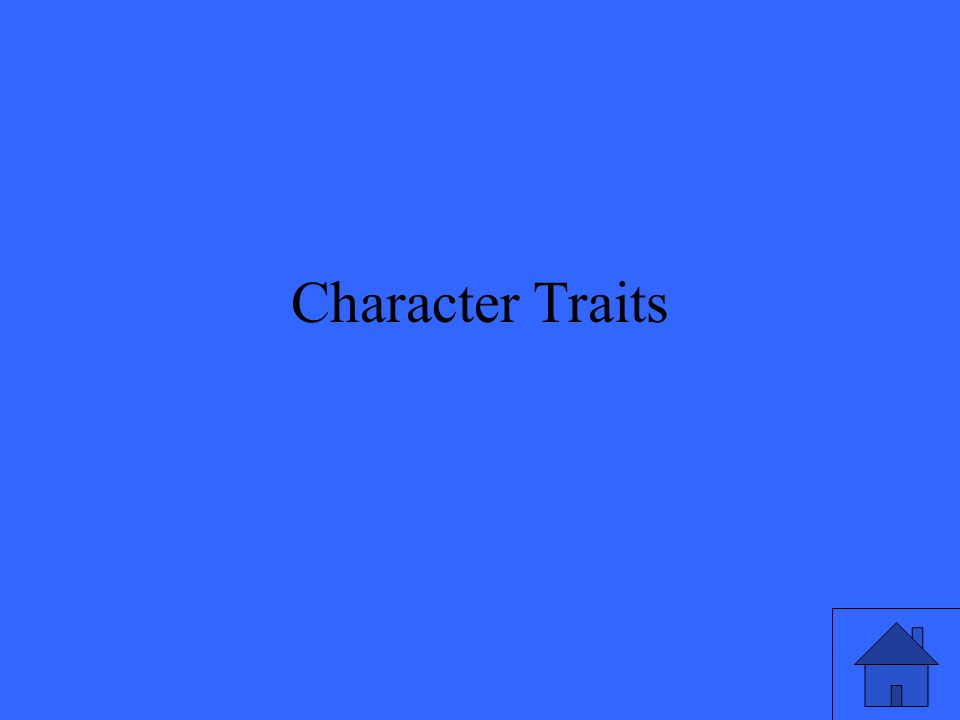 Physical or emotional attributes of a character described with adjectives