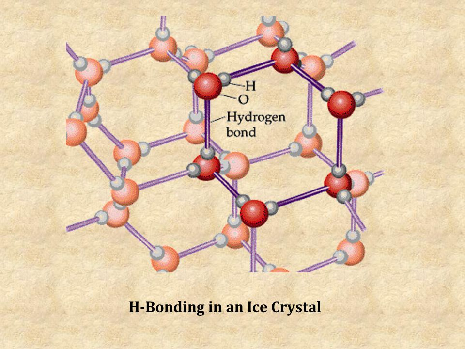 H-Bonding in an Ice Crystal
