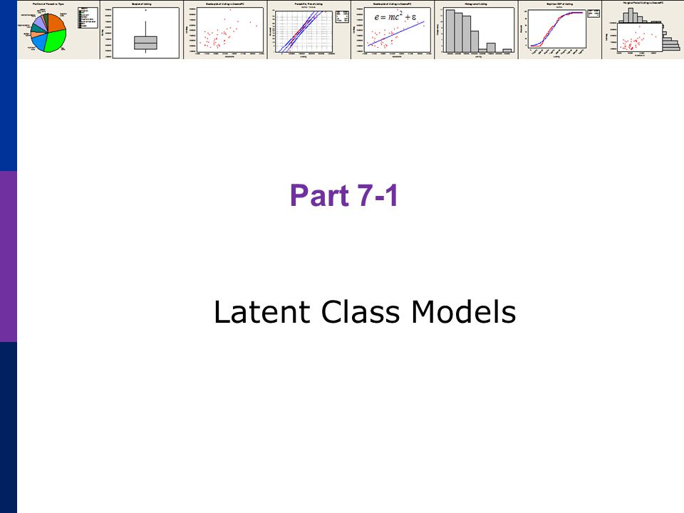 Part 7-1 Latent Class Models