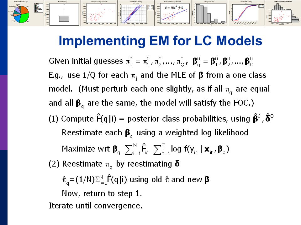 Implementing EM for LC Models