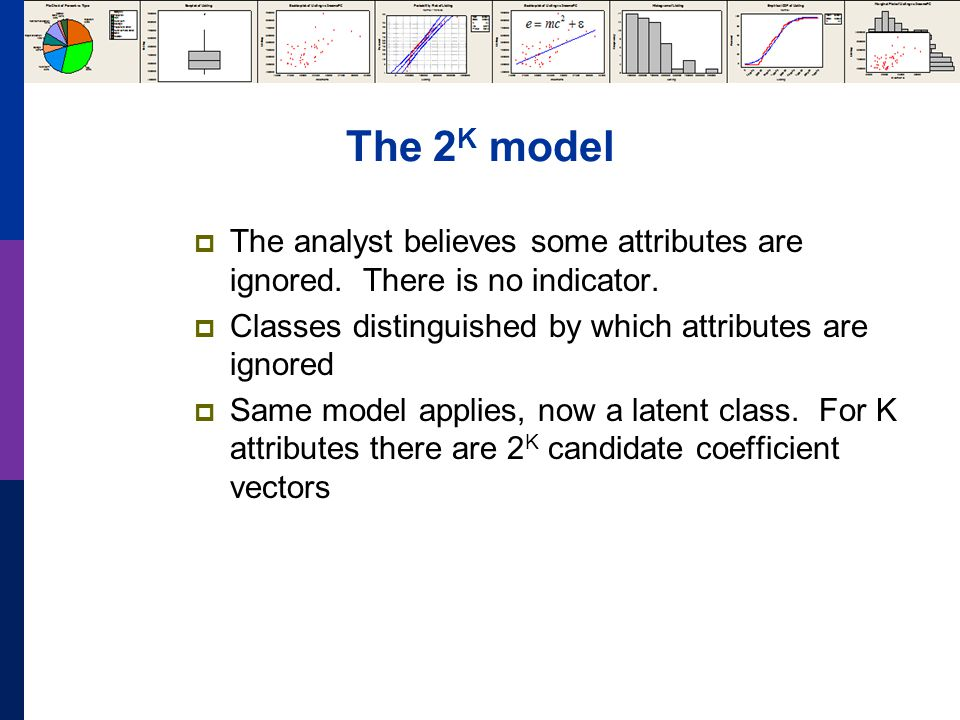 The 2 K model  The analyst believes some attributes are ignored.