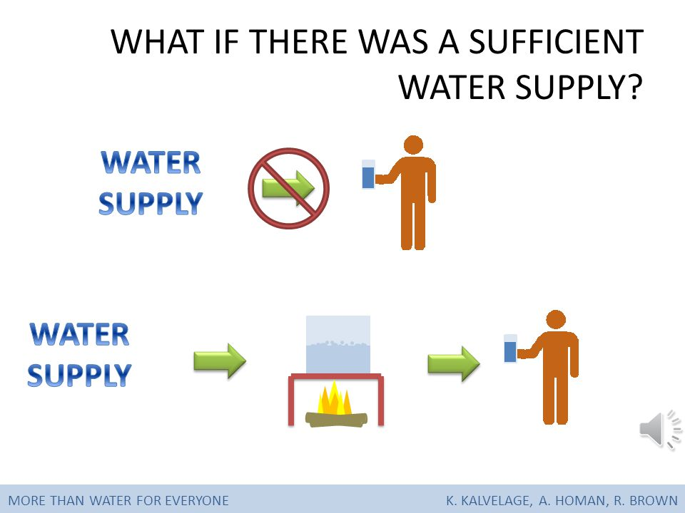 MORE THAN WATER FOR EVERYONEK. KALVELAGE, A. HOMAN, R. BROWN WATER CONSUMPTION
