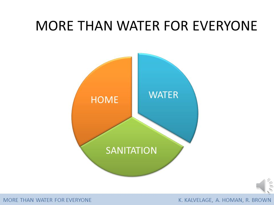 SOLUTIONS MORE THAN WATER FOR EVERYONEK. KALVELAGE, A. HOMAN, R. BROWN
