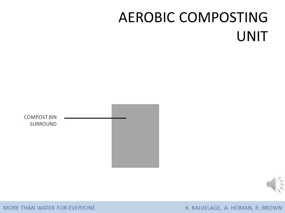 AEROBIC COMPOST UNIT MORE THAN WATER FOR EVERYONE K. KALVELAGE, A. HOMAN, R. BROWN