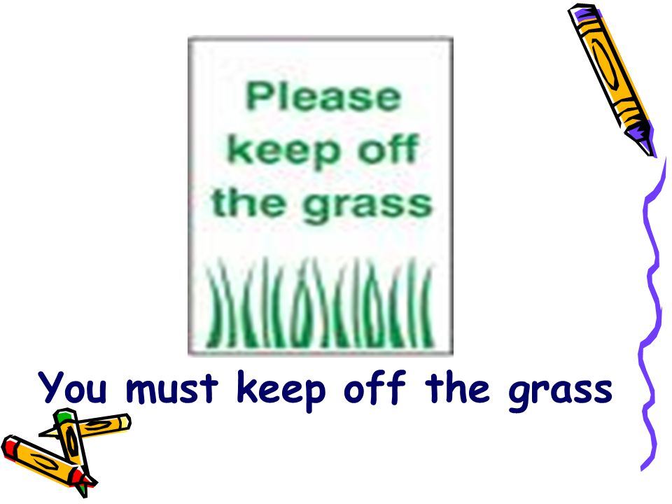 You must keep off the grass